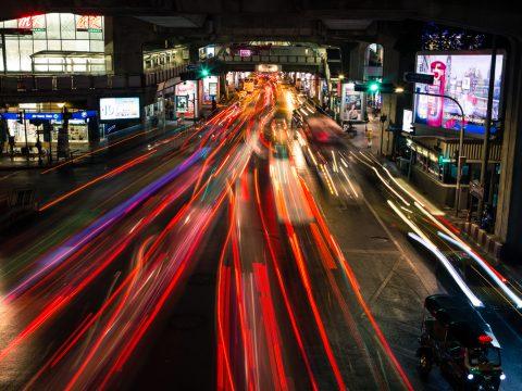 Streets at night Bangkok